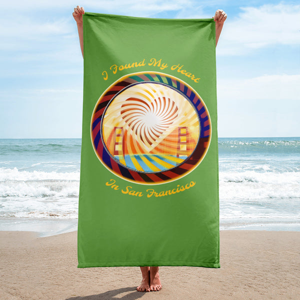 Beach Towel, The Heart of San Francisco