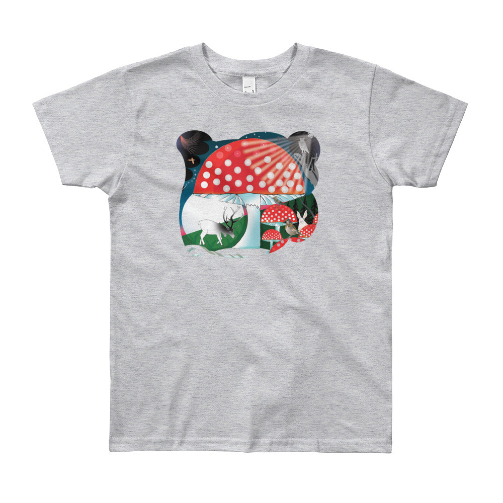Youth Short Sleeve T-Shirt, Winter Mushroom
