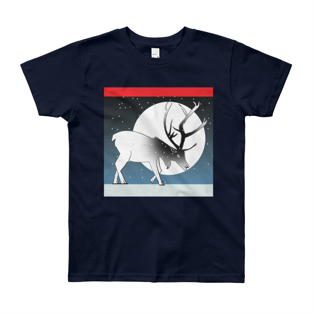 Youth Short Sleeve T-Shirt, Winter Deer