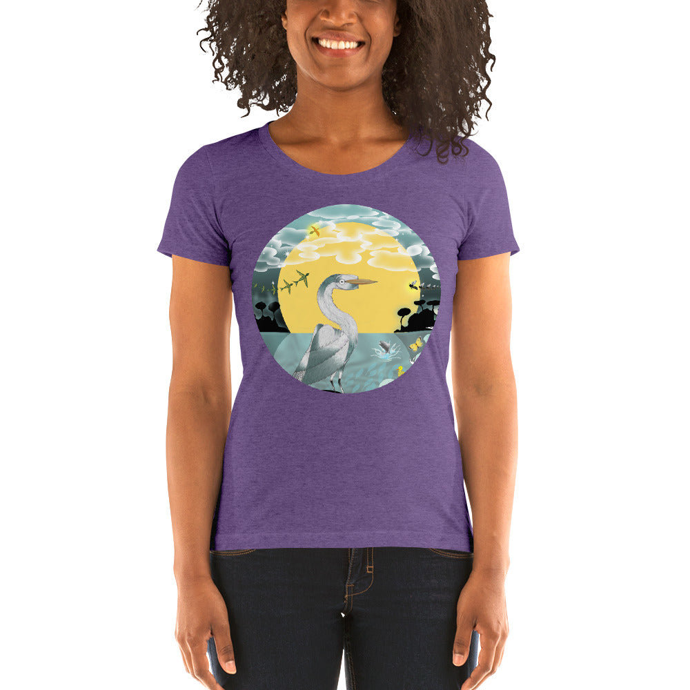 Ladies' short sleeve t-shirt, Spring Egret