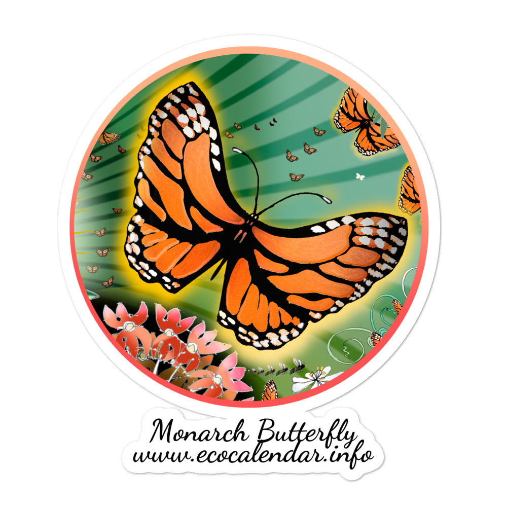 Bubble-free stickers, Summer Monarch