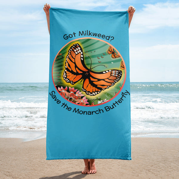 Beach Towel, Monarch Butterfly