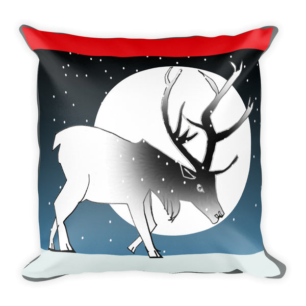 Basic Pillow, Winter Deer
