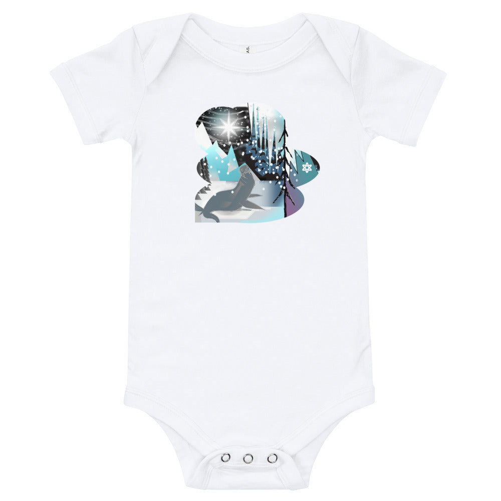 T-Shirt baby onesie, Winter Seal