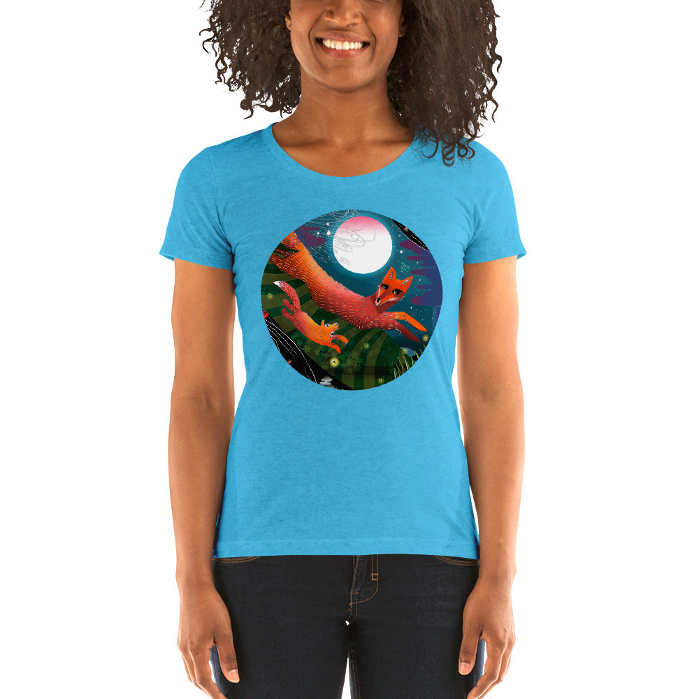 Ladies' short sleeve t-shirt, Autumn Fox