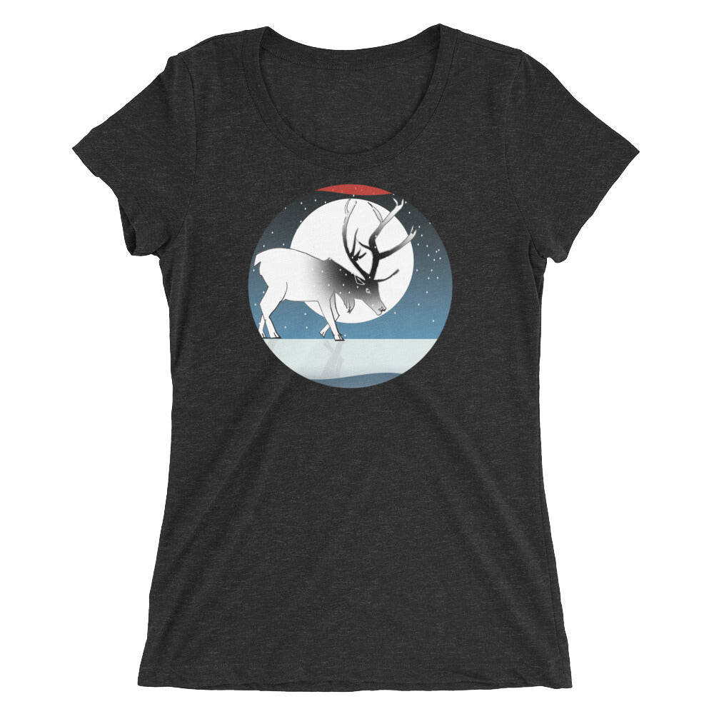 Ladies' short sleeve t-shirt, Winter Deer