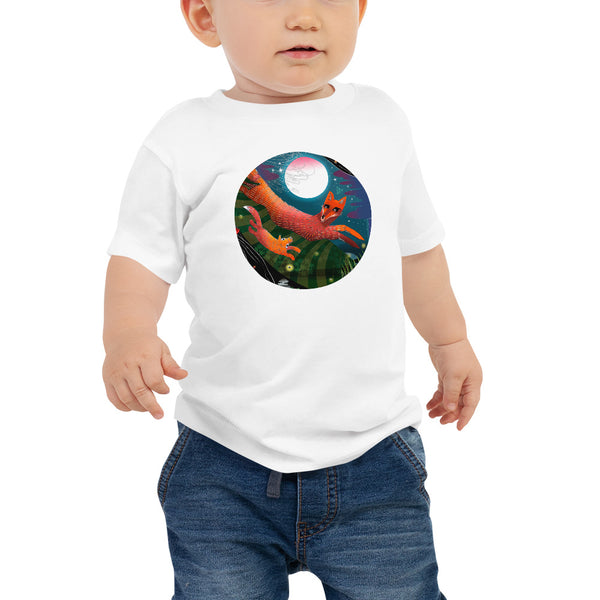 Baby Jersey Short Sleeve T-Shirt, Autumn Fox