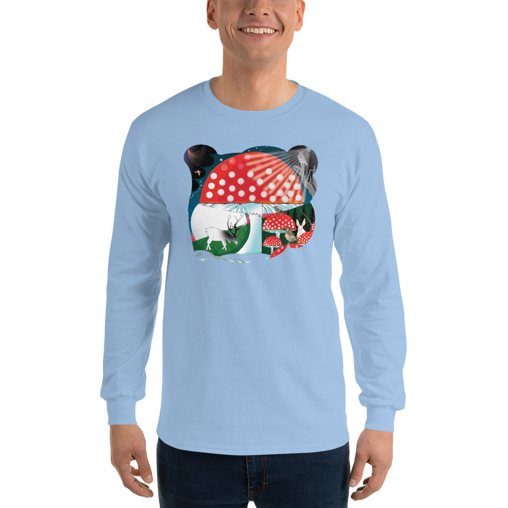 Long Sleeve T-Shirt, Winter Mushroom