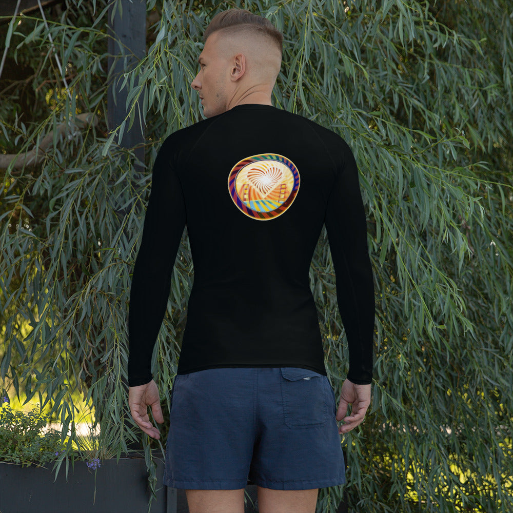 Men's Rash Guard, Beach Fun