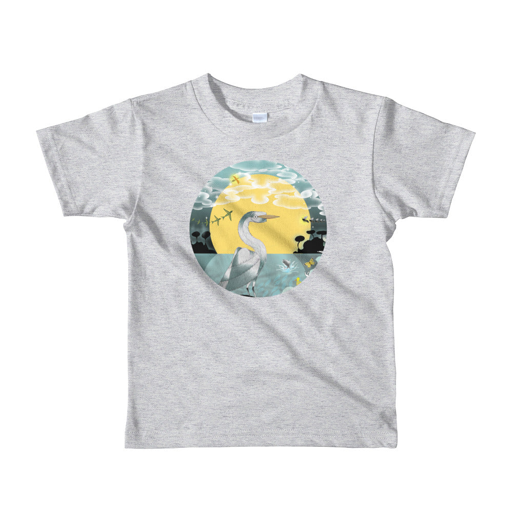 Short sleeve kids t-shirt 2-6 years, Spring Egret