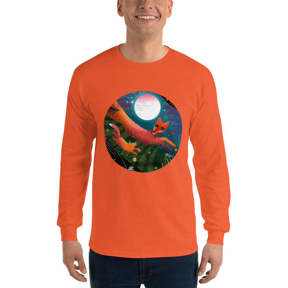 Long Sleeve T-Shirt, Autumn Fox
