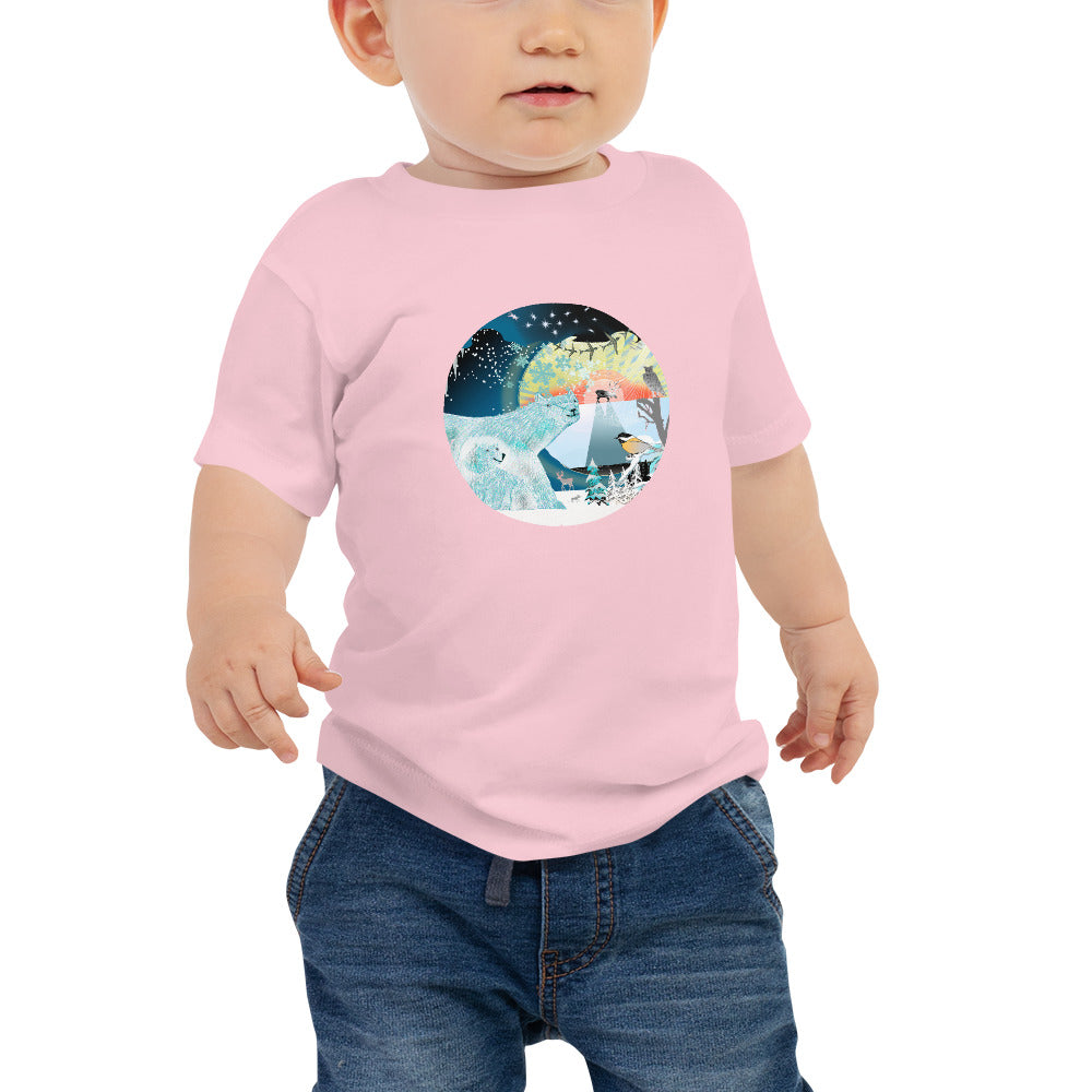 Baby Jersey Short Sleeve Tee, Winter Bear