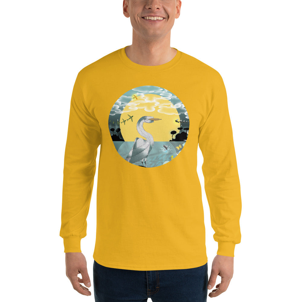 Long Sleeve T-Shirt, Spring Egret