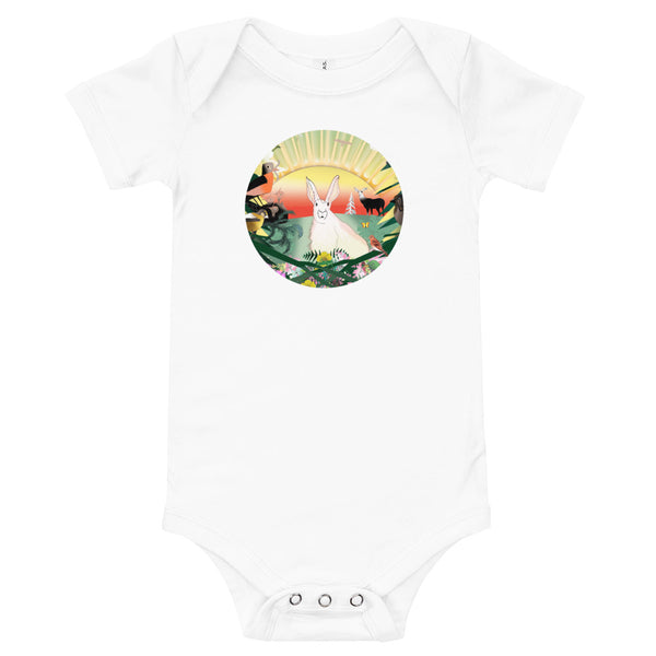Baby Body Tee, Spring Rabbit