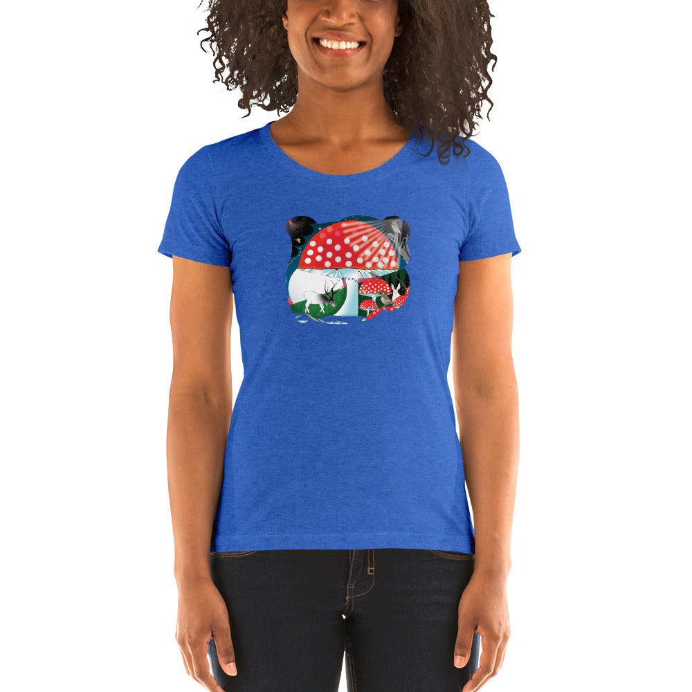 Ladies' short sleeve t-shirt, Winter Mushroom