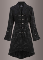 Black victorian brocade coat