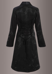 Black gothic coat jacket
