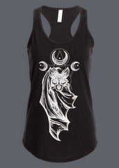 Bat design gothic top