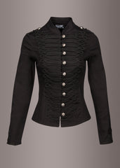 Black steampunk jacket with buttons