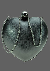 Black Anarchy Heart Spike Clutch