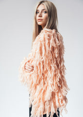 You Could Be My Flamingo Pink Shaggy Jacket