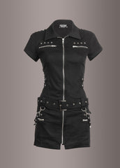 Goth dress with buckles