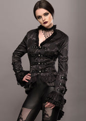 Black gothic tail jacket