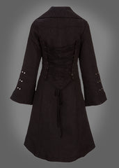 Black goth winter coat
