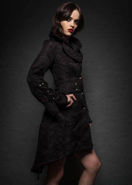 Rocket Queen Black Victorian Coat with Lacing