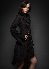 Black brocade gothic coat