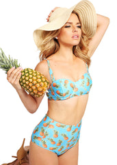 Pineapple High Waist swimsuit