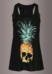 Pina Skulllada Pineapple Skull Loose Fit Tank Top
