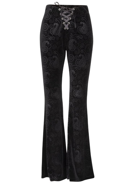 black velvet bell bottoms