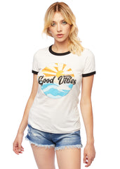good vibes graphic t shirt