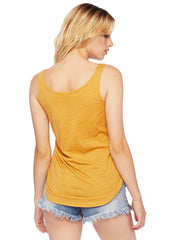 yellow sleeveless t-shirt