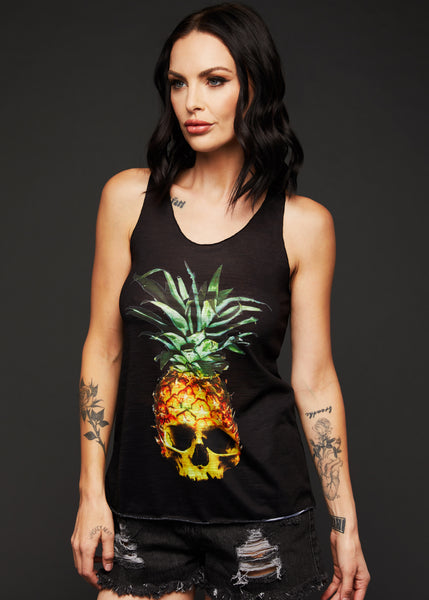 pineapple skull t shirt