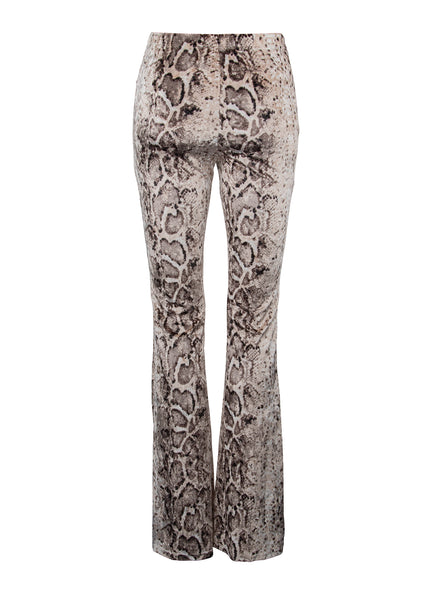 animal print velvet trousers