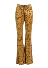 burnout velvet flared trousers