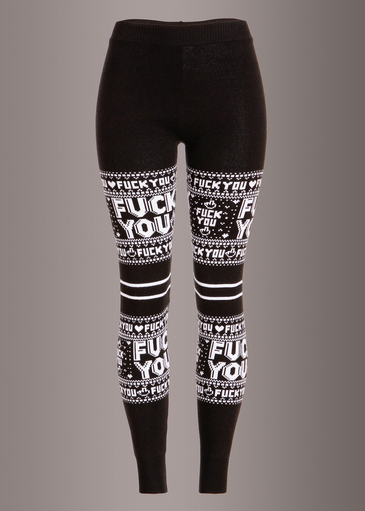 Sourpuss Clothing F YOU Damen Christmas Sweater Leggings