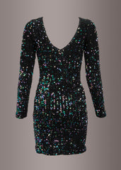 Glitzerndes Cocktailkleid