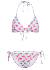 It's Flamingo Time Damen Triangel Bikini (2-tlg. Set)