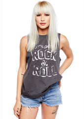 Graues Rock n Roll T-Shirt
