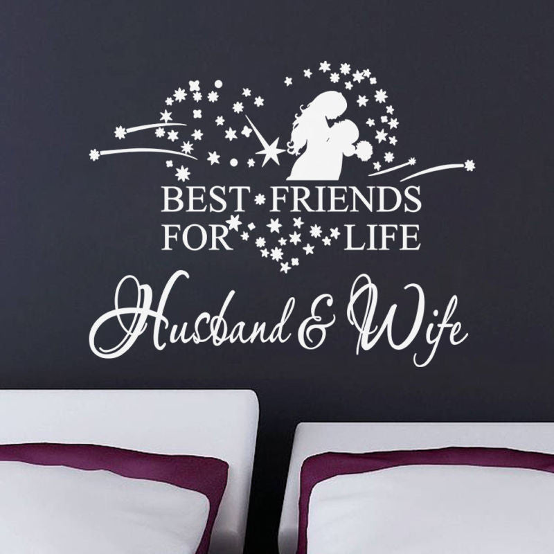 Best Husband And Wife: Best Friend For Life Husband Wife Vinyl Wall Sticker