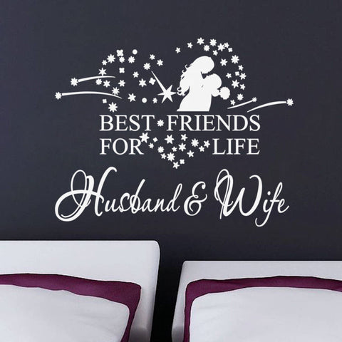 Best Friend For Life Husband Wife Vinyl Wall Sticker Bedroom Decor