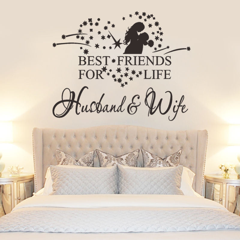 Best Friend For Life Husband Wife Vinyl Wall Sticker Bedroom Decor Hom Priced To Love