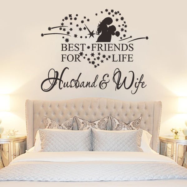 Best Friend For Life Husband Wife Vinyl Wall Sticker Bedroom Decor Home Decal - Limited Time Special Promo - Priced to Love