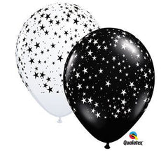Black & White Star Balloons