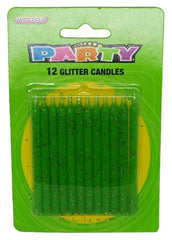 Lime Green Glitter Candles