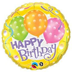 Happy Birthday Yellow Foil Balloon