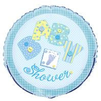 Blue Baby Shower Buttons Foil Balloon